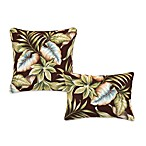 Outdoor Toss Pillow Collection in Brown Leaf