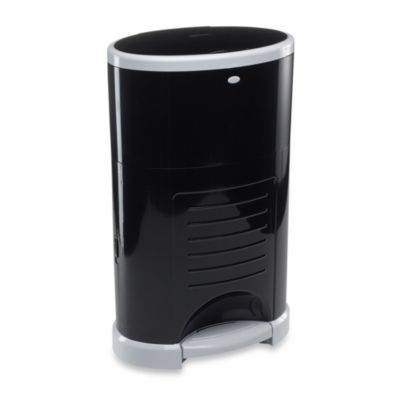 Dekor Kolor Plus Diaper Disposal Pail in Black