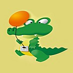 wallstickerlamp Crocodile Sticker Nightlight