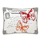 Mila Postcard Butterfly Toss Pillow