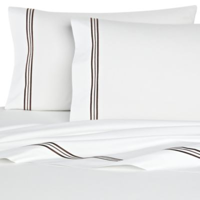 Bellino Fine Linens® Tivoli Queen Flat Sheet in Chocolate