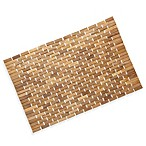 Pollenex™ Solid Teak Roll-Up Shower Mat