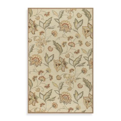 Ovar 3-Foot x 5-Foot Indoor and Outdoor Area Rug in Beige