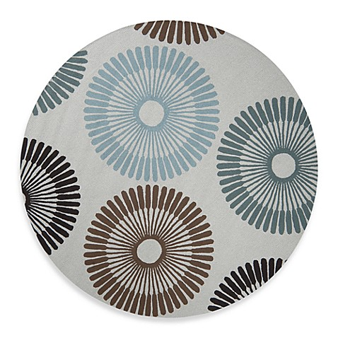 Durazno 8-Foot Round Indoor/Outdoor Pussywillow Rug in Grey Multi