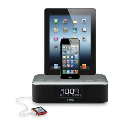 iHome® iDL100 Triple Charging FM Clock Radio