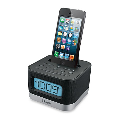 ihome stereo fm clock radio w lightning dock bed bath beyond. Black Bedroom Furniture Sets. Home Design Ideas