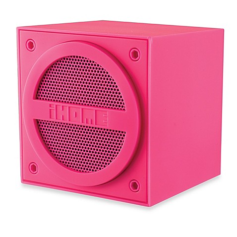 iHome Bluetooth Wireless Mini Speaker in Pink