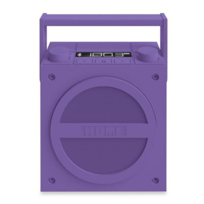 iHome® Bluetooth Wireless Rechargeable Boombox with FM Radio in Purple