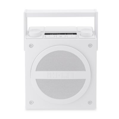 iHome® Bluetooth Wireless Rechargeable Boombox with FM Radio in White
