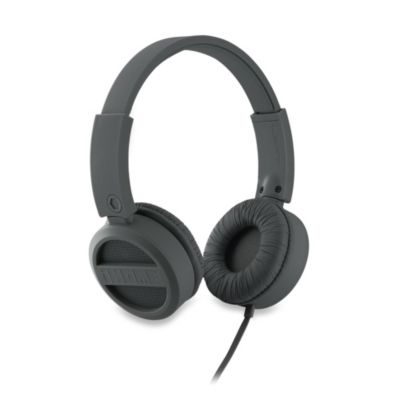 iHome® Rubberized On-Ear Headphones in Grey