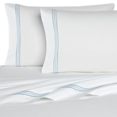 Bellino Fine Linens® Tivoli Queen Flat Sheet in Sky