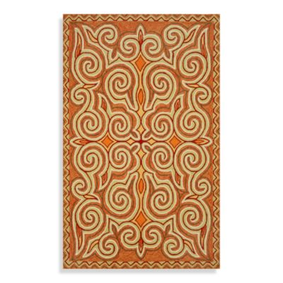 Trans-Ocean Kazakh 7-Foot 6-Inch x 9-Foot 6-Inch Indoor/Outdoor Rug in Sunrise