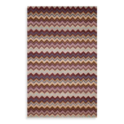 Zigzag Stripe Rug in Purple