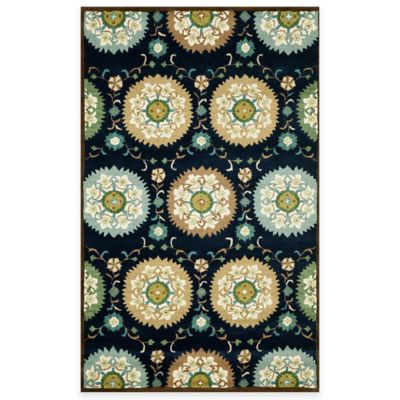 Suzanie 2-Foot 3-Inch x 8-Foot Indoor Rug in Denim