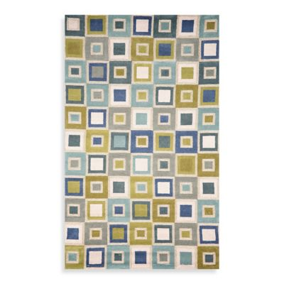 Trans-Ocean Big Squares 7-Foot 1/2-Inch x 9-Foot 1/2-Inch Indoor/Outdoor Rug