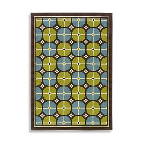 Oriental Weavers Caspian 2-Foot 3-Inch x 7-Foot 6-Inch Indoor/Outdoor Rug  in Blue
