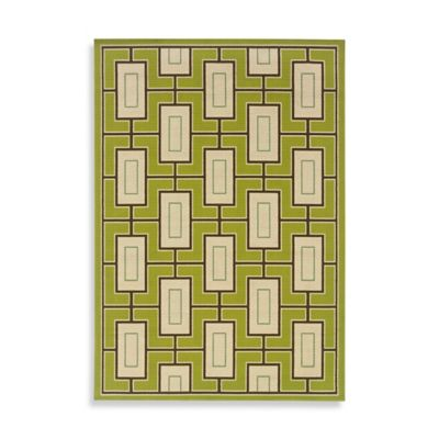 Oriental Weavers Caspian Green 1-Foot 9-Inch x 3-Foot 9-Inch Indoor/Outdoor Rug