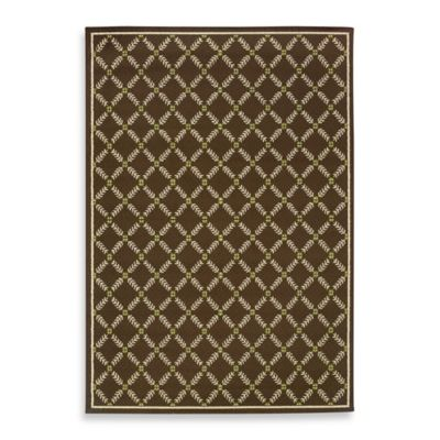 Oriental Weavers Caspian Brown 1-Foot 3/4-Inch x 3-Foot 3/4-Inch Indoor/Outdoor Rug