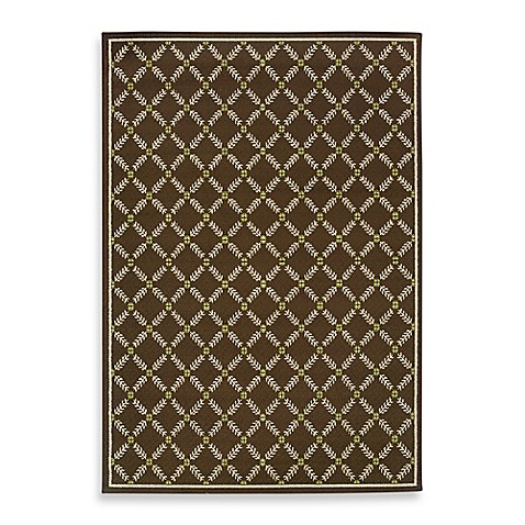 Oriental Weavers Caspian Brown 8-Foot 1/2-Inch x 13-Foot Indoor/Outdoor Rug