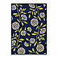 Oriental Weavers Caspian Mums 6-Foot 7-Inch x 9-Foot 6-Inch Indoor/Outdoor Rug in Navy