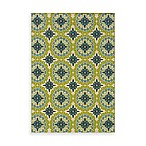 Sphinx Caspian Green/Blue Medallion Indoor/Outdoor Rug