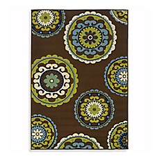 Oriental Weavers Caspian Indoor/Outdoor Rug in Brown