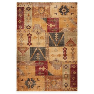 KAS Cypress Handknotted Coffee Agra 5-Foot x 8-Foot Rug