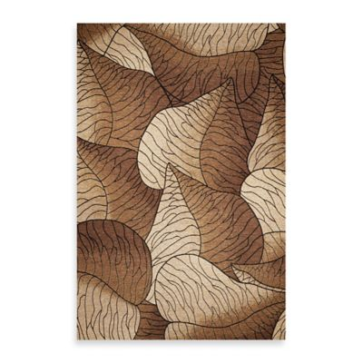 KAS Horizon Beige Fauna 6-Foot 9-Inch Round Indoor/Outdoor Rug