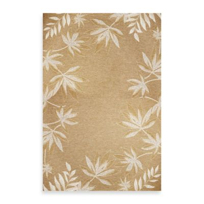 KAS Horizon Sage Fern Border 5-Foot 3-Inch x 7-Foot 7-Inch Indoor/Outdoor Rug