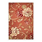KAS® Horizon Brick Red Flora Indoor/Outdoor Rugs