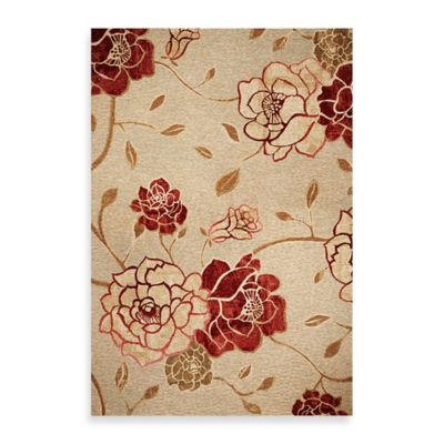 KAS Horizon Sage Green Flora 3-Foot 4-Inch x 4-Foot 11-Inch Indoor/Outdoor Rug