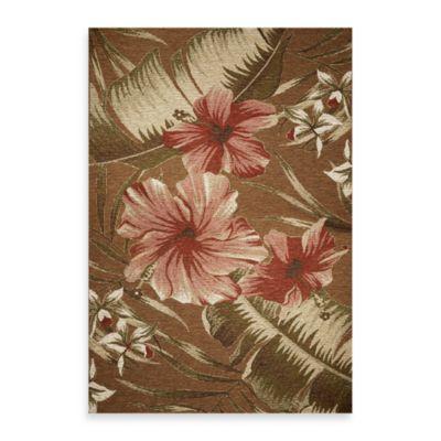 KAS® Horizon Mocha Hibiscus 3-Foot 4-Inch x 4-Foot 11-Inch Indoor/Outdoor Rug