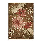 KAS® Horizon Mocha Hibiscus Indoor/Outdoor Rug