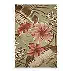 KAS Horizon Sage Hibiscus Indoor/Outdoor Rug