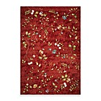 KAS® Horizon Red Floral Indoor/Outdoor Rugs