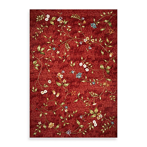 KAS® Horizon Red Floral 6-Foot 9-Inch Round Indoor/Outdoor Rug