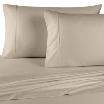 Wamsutta® 400 Thread Count Dual King Sheet Set in Taupe