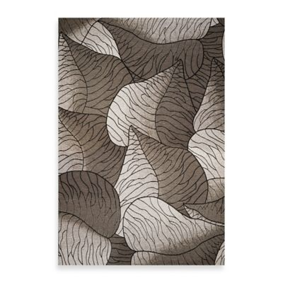 KAS Horizon Silver Fauna 6-Foot 9-Inch Round Indoor/Outdoor Floor Mat