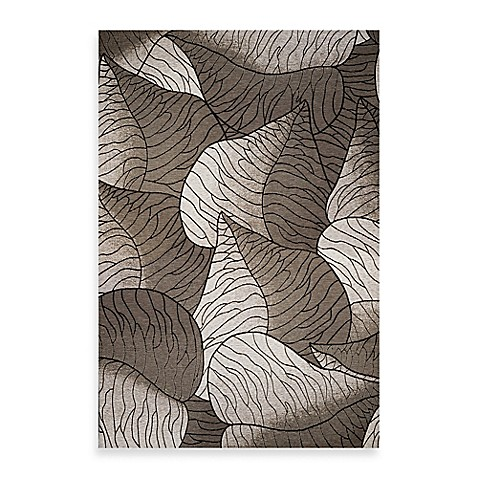 KAS® Horizon Silver Fauna 6-Foot 9-Inch Round Indoor/Outdoor Floor Mat