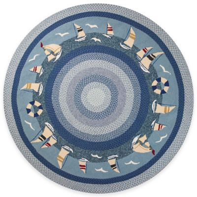KAS Fairfax Sailboats 2-Foot 3-Inch x 3-Foot 9-Inch Indoor/Outdoor Rug