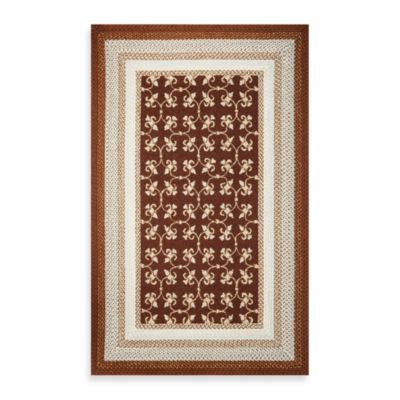 KAS Fairfax Mocha Tiles 5-Foot x 7-Foot 6-Inch Indoor/Outdoor Rug