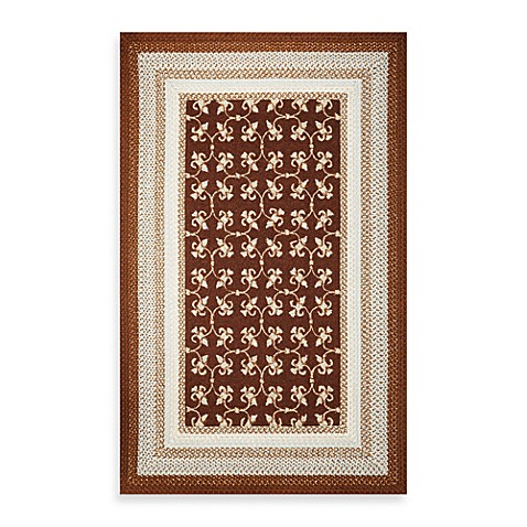KAS® Fairfax Mocha Tiles 7-Foot 6-Inch Round Indoor/Outdoor Rug