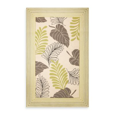 KAS Fairfax Ivory Whimsy 5-Foot x 7-Foot 6-Inch Indoor/Outdoor Rug