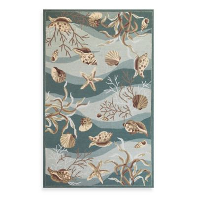 KAS Sonesta 2-Foot x 7-Foot 6-Inch Runner in Seafoam Shells