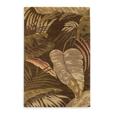 KAS Havana Rainforest 3-Foot 3-Inch x 5-Foot 3-Inch Rug in Mocha