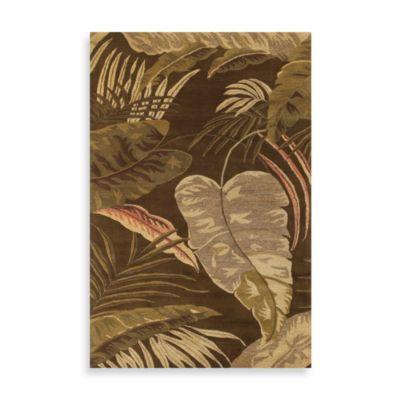 KAS Havana Rainforest Rug in Mocha