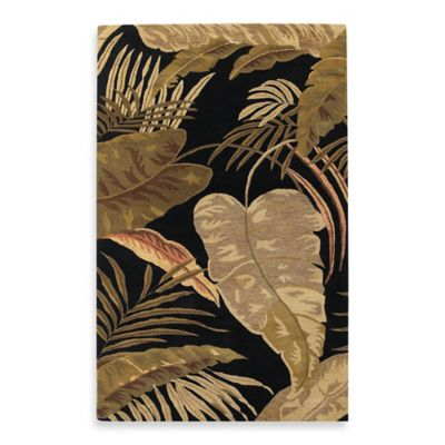 KAS Havana Midnight Rainforest 2-Foot 3-Inch x 8-Foot Rug