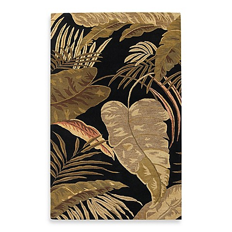Kas Havana Midnight Rainforest 7-Foot 1/2-Inch Round Indoor Rug