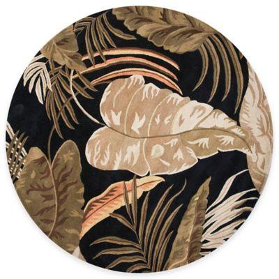 KAS Havana Midnight Rainforest 7-Foot 6-Inch Round Rug