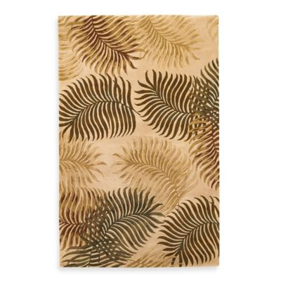KAS Havana Natural Fern View 8-Foot x 10-Foot 1/2-Inch Rug